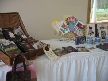 Behold Books, Book Bags, & Greeting Cards on display